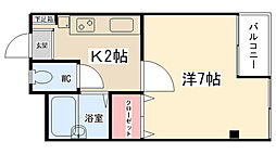 ニューアイコウマンション[204号室]の間取り