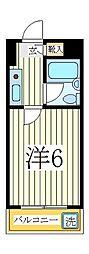 ジュネパレス新松戸第1[2階]の間取り