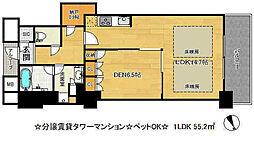 アーバンライフ神戸三宮ザ・タワー[16階]の間取り