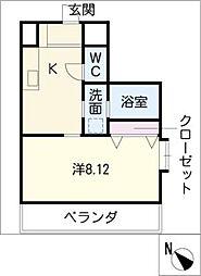 AvantiYASHIRODAI[1階]の間取り