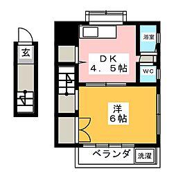 三ッ石コーポ[2階]の間取り