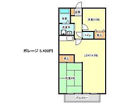 兵庫県神戸市西区玉津町田中の賃貸アパートの間取り