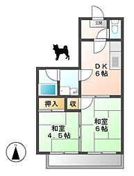 大橋マンション[4階]の間取り