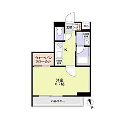 東京メトロ丸ノ内線 方南町駅 徒歩4分の賃貸マンション 1階1Kの間取り