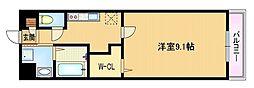 Osaka Metro谷町線 関目高殿駅 徒歩6分の賃貸マンション 3階1Kの間取り