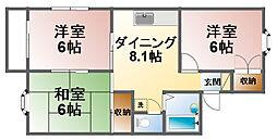 千葉県茂原市高師町3丁目の賃貸アパートの間取り