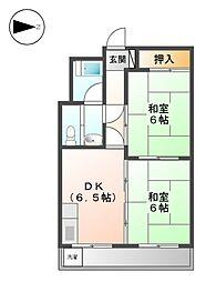 ヨコタコーポ[3階]の間取り