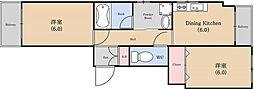 ファミール鳥居[3階]の間取り