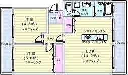隆豊ハイツ[3階]の間取り