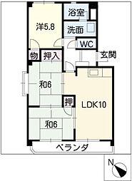 ピボットマンション生路[3階]の間取り