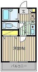 Kフレール 2c[2階]の間取り