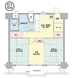 横浜若葉台[3-3-1102号室]の間取り