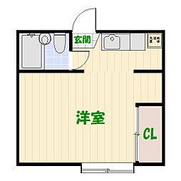 東京都足立区大谷田4丁目の賃貸アパートの間取り