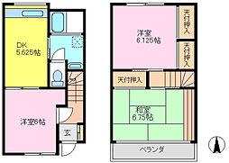 [テラスハウス] 千葉県松戸市五香6丁目 の賃貸【千葉県 / 松戸市】の間取り