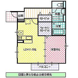 T-Room II[101号室号室]の間取り