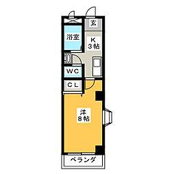 パスカル21[3階]の間取り