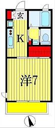 フォルス21[1階]の間取り