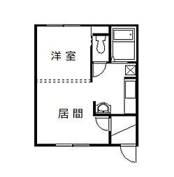 永山5・24コーポ[206号室]の間取り