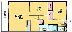 エスポワール美萩[2階]の間取り