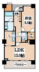 ロイヤルパークス桃坂[13階]の間取り