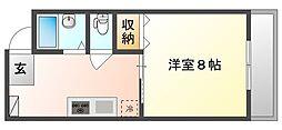 吉岡マンションD棟[2階]の間取り