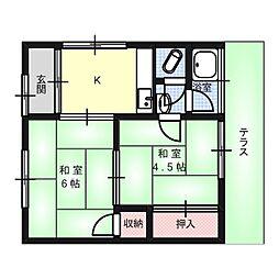 高井文化[1階]の間取り