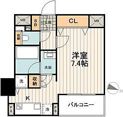 東京メトロ有楽町線 江戸川橋駅 徒歩3分の賃貸マンション 5階1Kの間取り