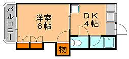 エスポアールマンション[4階]の間取り