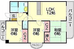 レジデンスコスモス2[2階]の間取り