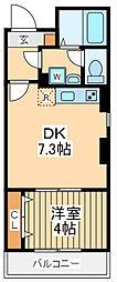 仮)ビューノ鶴見 2階1DKの間取り