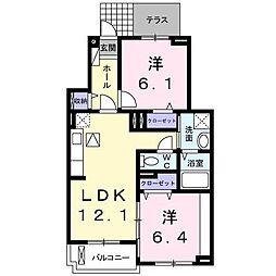 レザンII[1階]の間取り