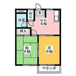 菅谷コーポ[1階]の間取り