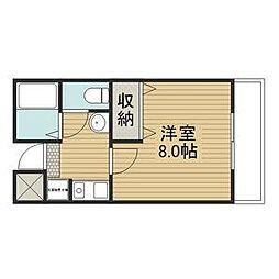 CUBIC119[1階]の間取り