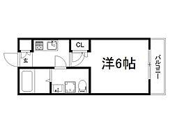 THE GARNET SUITE RESIDENCE深草 3階1Kの間取り