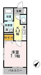 モンシャトー[2階]の間取り