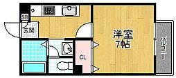シャンテ香里[2階]の間取り