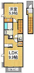メゾンカミキ[2階]の間取り