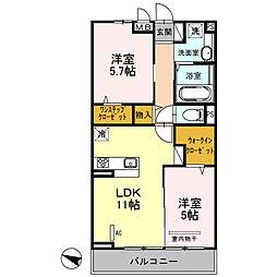 仮)安行藤八D-room2[2階]の間取り