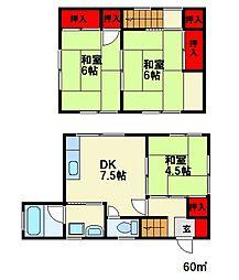 [一戸建] 福岡県大野城市白木原2丁目 の賃貸【/】の間取り