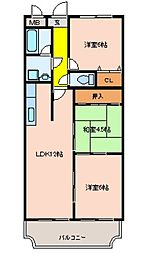 ルモンドオサカベ[3階]の間取り