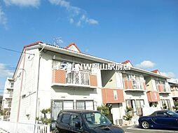 岡山県岡山市北区西花尻の賃貸アパートの外観