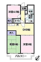 ウィスタリア藤田[307号室]の間取り