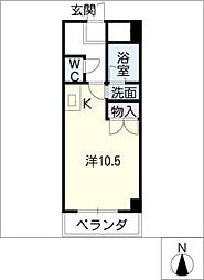 河芸マンション[5階]の間取り