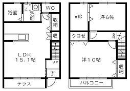 [テラスハウス] 静岡県浜松市南区増楽町 の賃貸【静岡県 / 浜松市南区】の間取り
