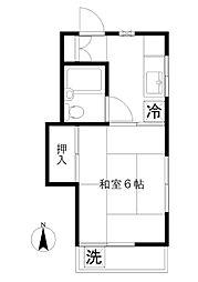 RAFFLES YAKUMO[2階]の間取り