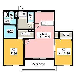 (仮)中川区中郷メゾン[3階]の間取り