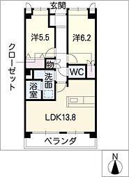 サンシャイン本郷A棟[3階]の間取り