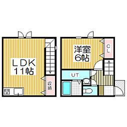 メゾンドK136[1階]の間取り
