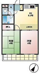 モアクレスト菊野台[306号室]の間取り