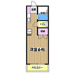 東京都福生市大字福生の賃貸マンションの間取り